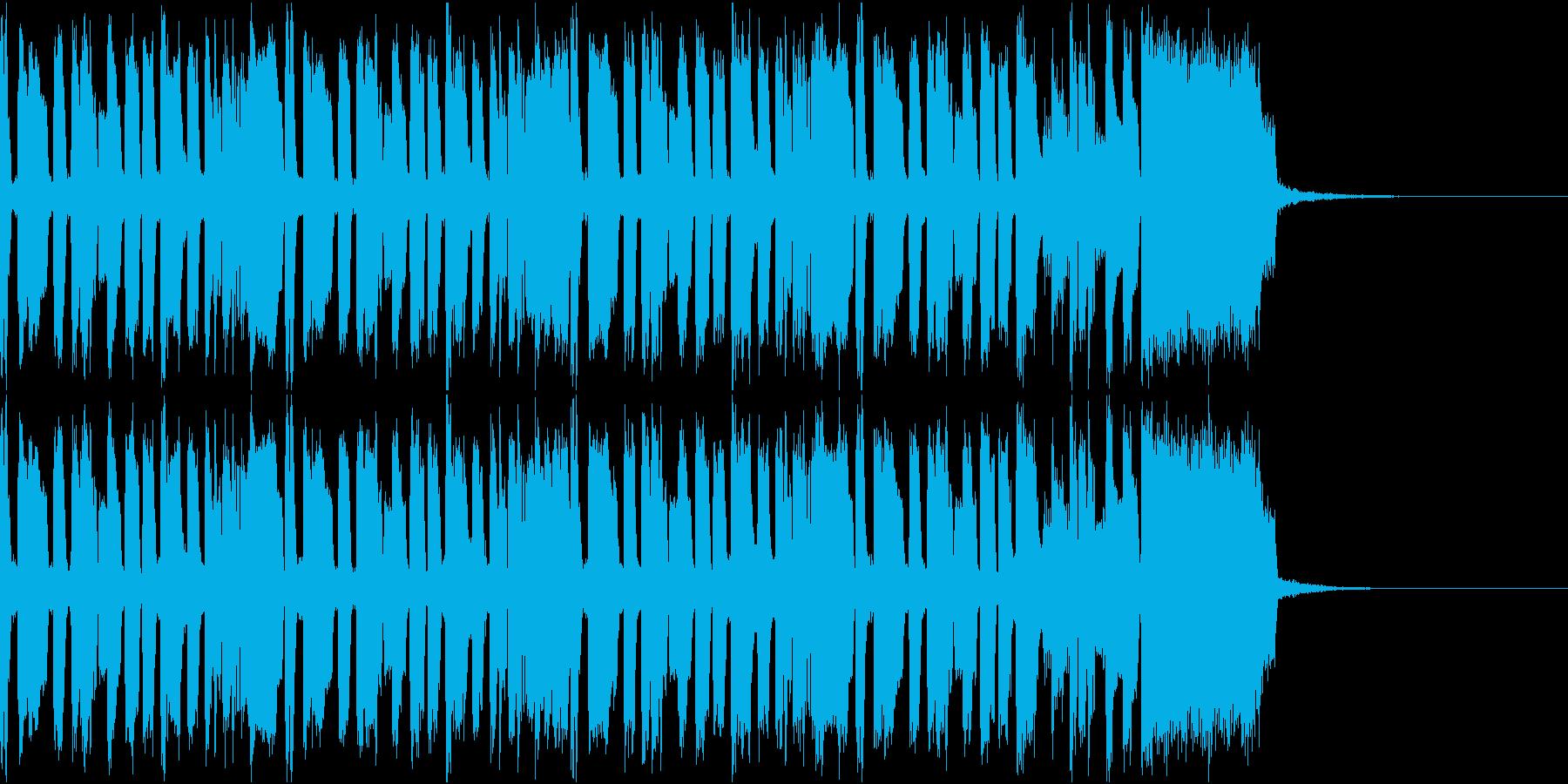 ニュース ラジオ テクノジングル4の再生済みの波形