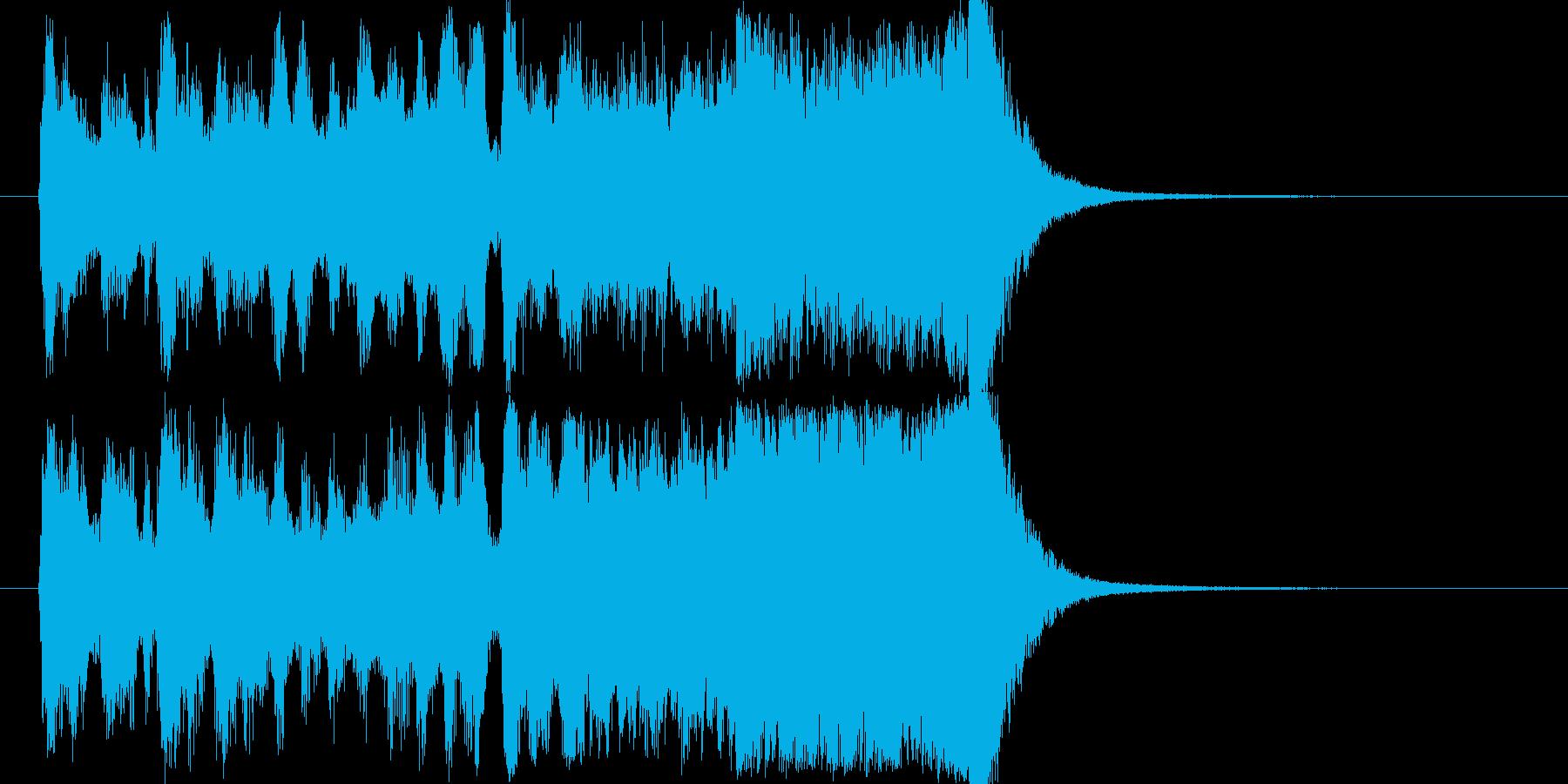 賞発表~ファンファーレの再生済みの波形