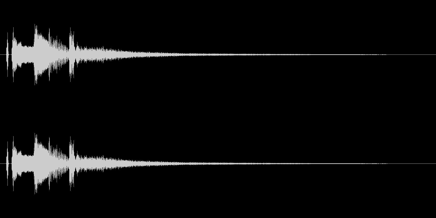 ピアノ。ホラーの発見音など。の未再生の波形