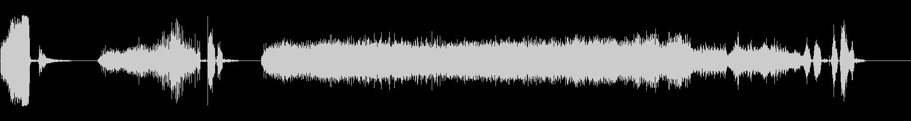 電気ドリル6の未再生の波形
