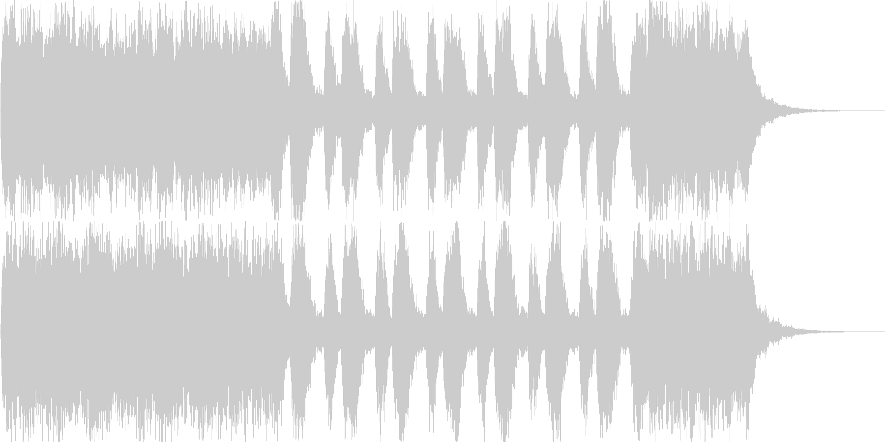 ストリングスによる表彰シーンや結婚式な…の未再生の波形