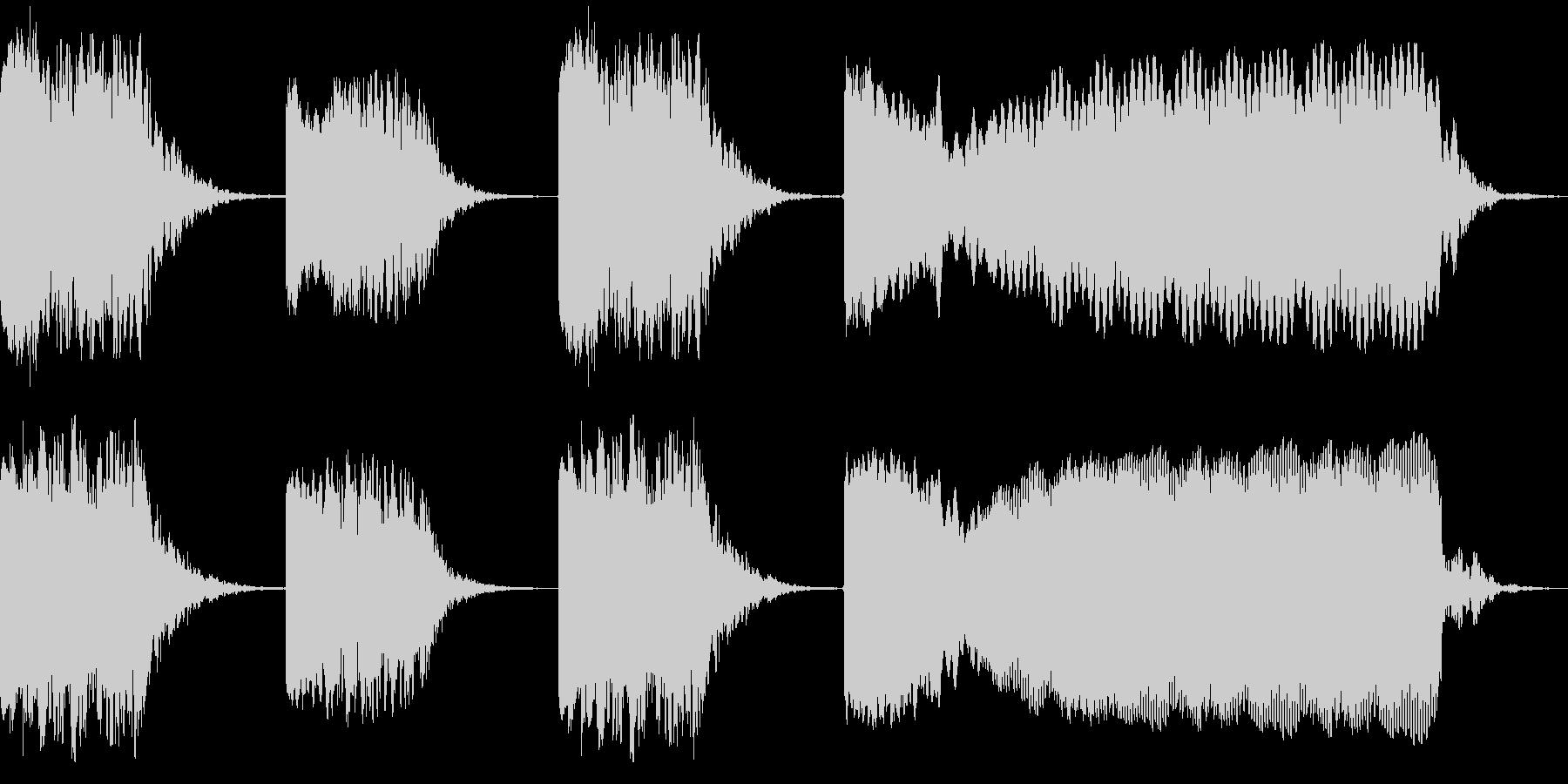 張力ビルダーの歪みの未再生の波形