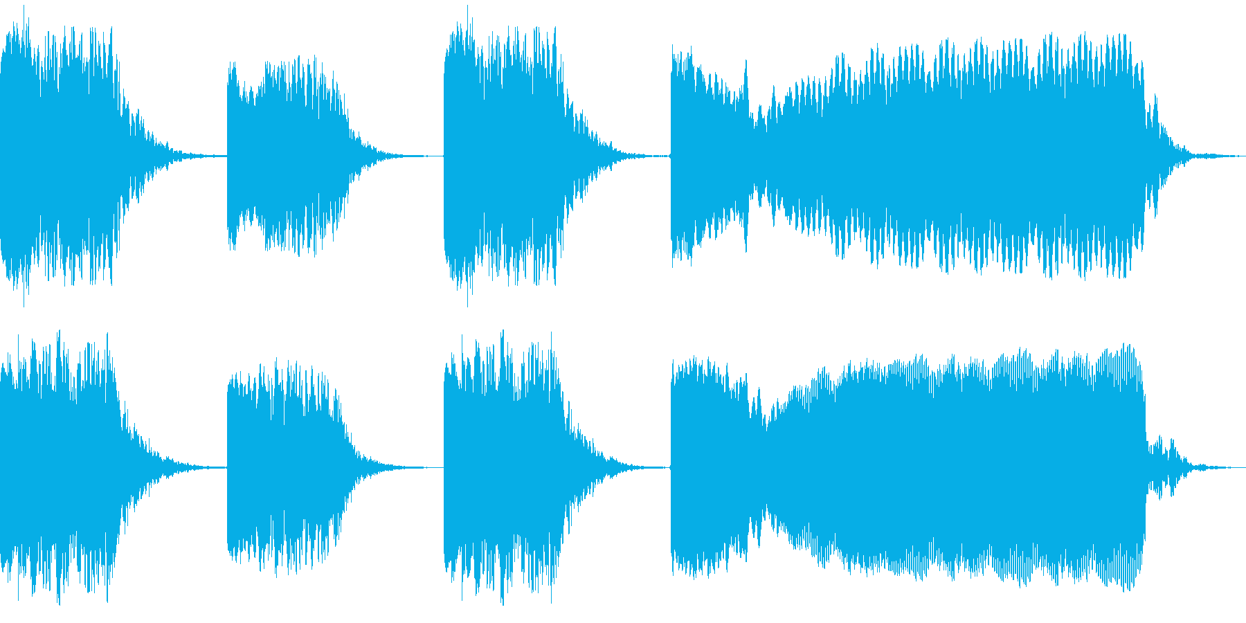 張力ビルダーの歪みの再生済みの波形