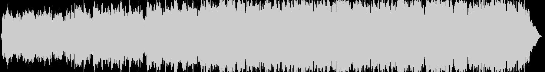 波音と笛のヒーリングミュージックの未再生の波形