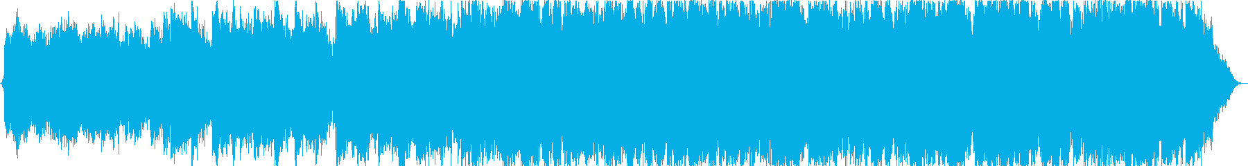 波音と笛のヒーリングミュージックの再生済みの波形