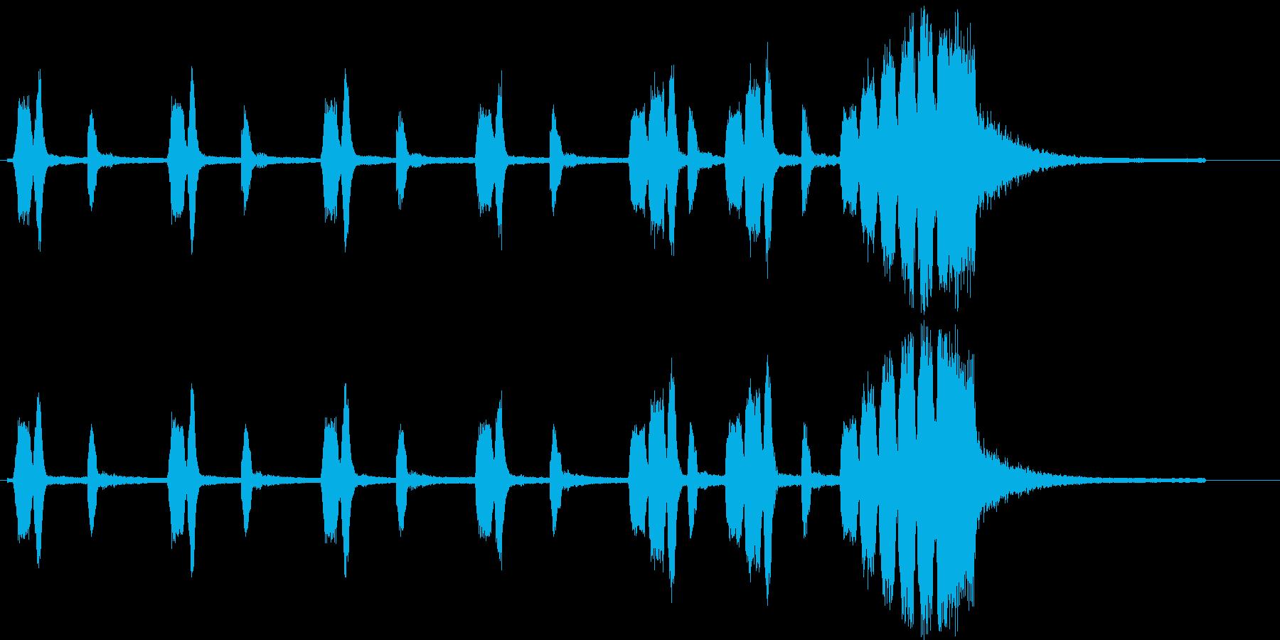 トランペットによる忍び足からの落下を表現の再生済みの波形