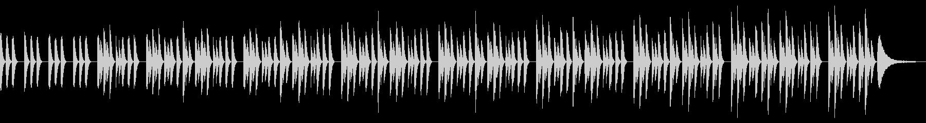 ミニマル・ピアノソロ・子供・工作・優しいの未再生の波形