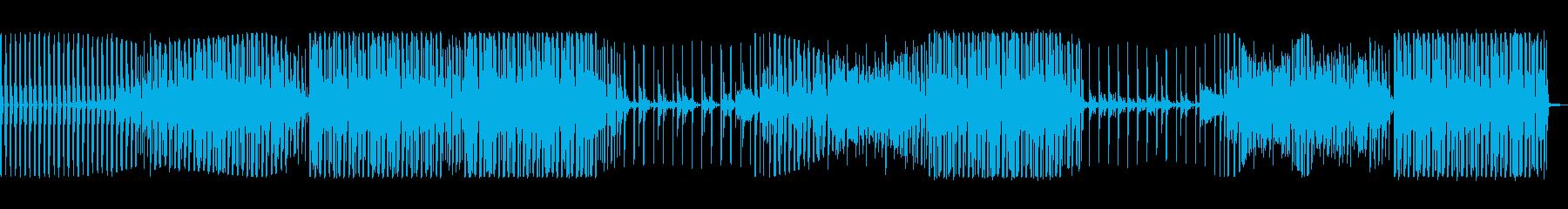 かっこいいベースのハウスミュージックの再生済みの波形