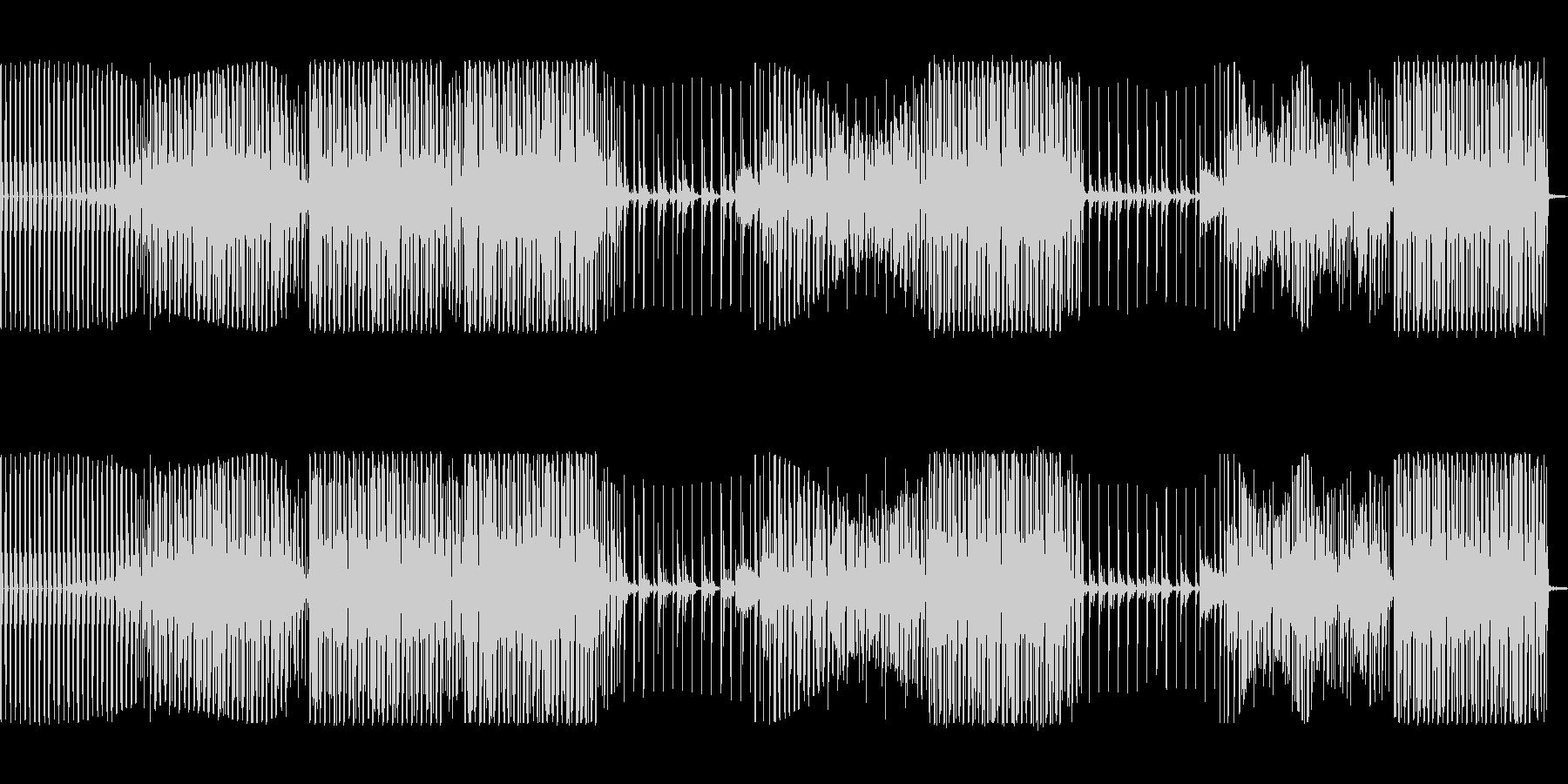 かっこいいベースのハウスミュージックの未再生の波形