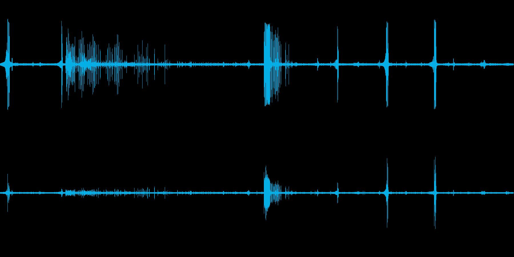 ホーホケキョ(ウグイスの鳴き声)の再生済みの波形