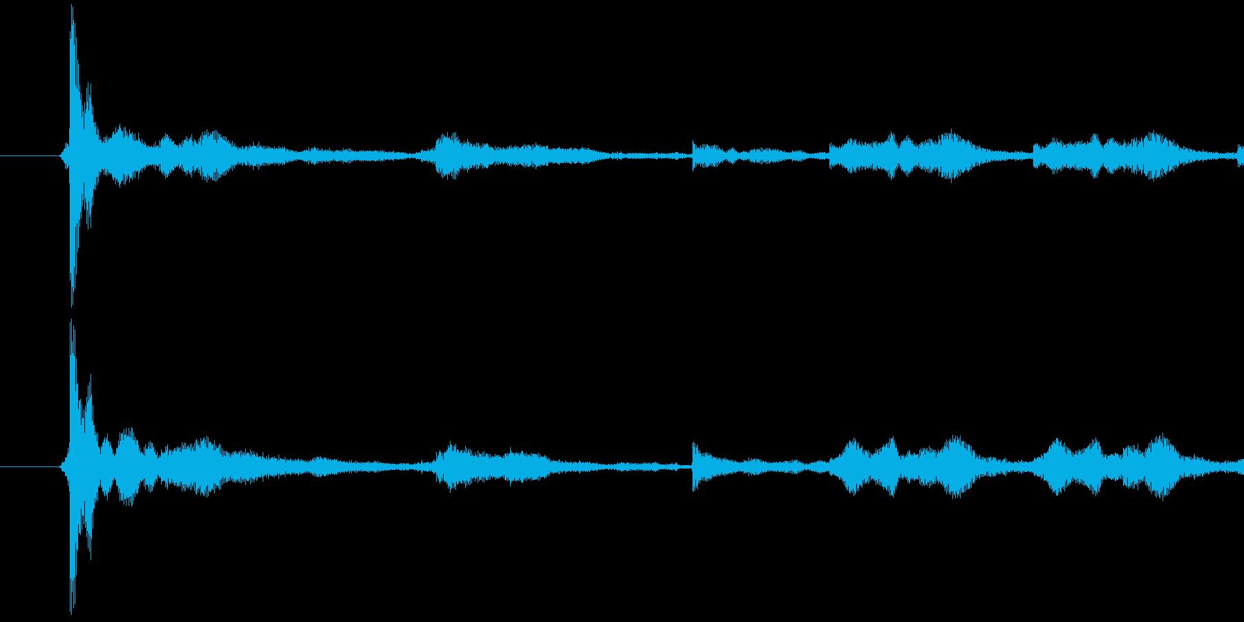 129_鍵を落とす音 チャリーンの再生済みの波形