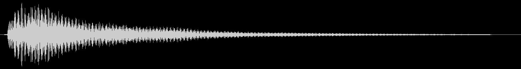 ピローンというビブラホーン風通知音の未再生の波形