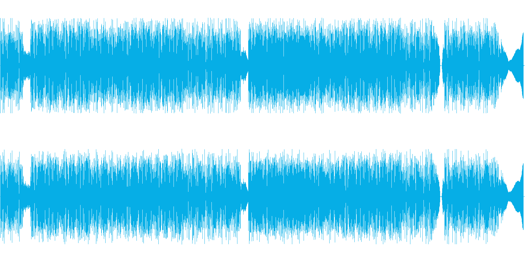 ドラムンベースwithクラシックギターの再生済みの波形
