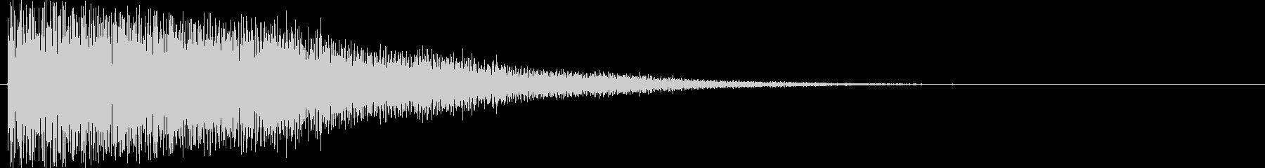 短い銅鑼の音4の未再生の波形