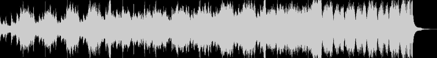 力強い幕開けを表現するオーケストラ曲の未再生の波形