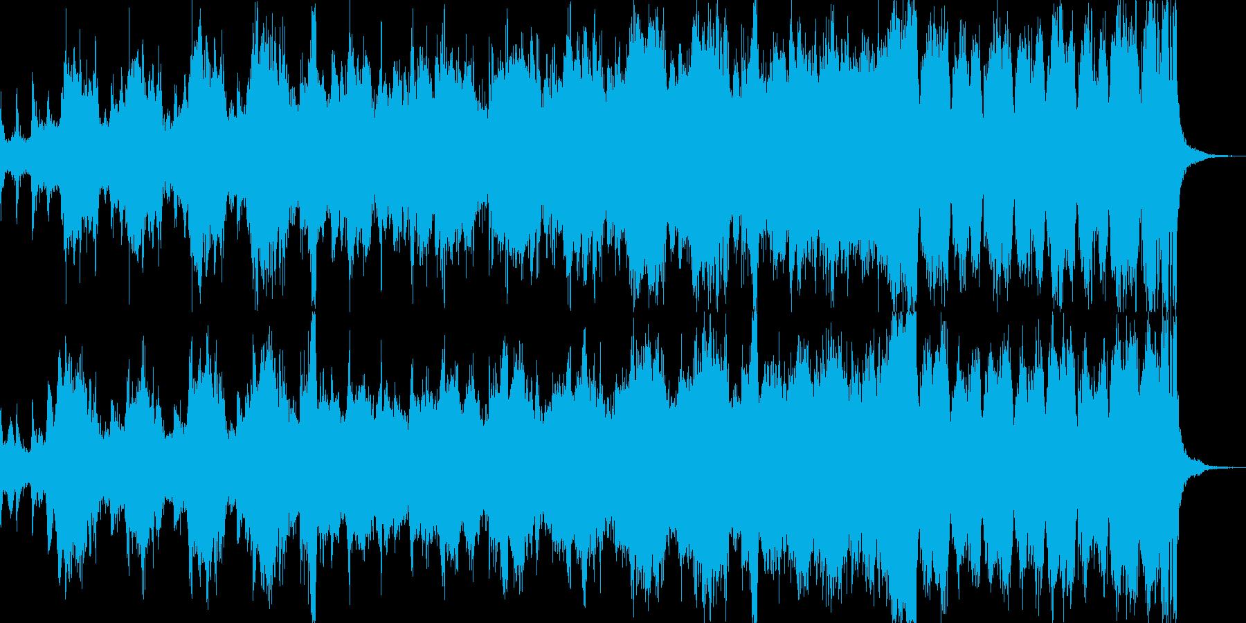 力強い幕開けを表現するオーケストラ曲の再生済みの波形