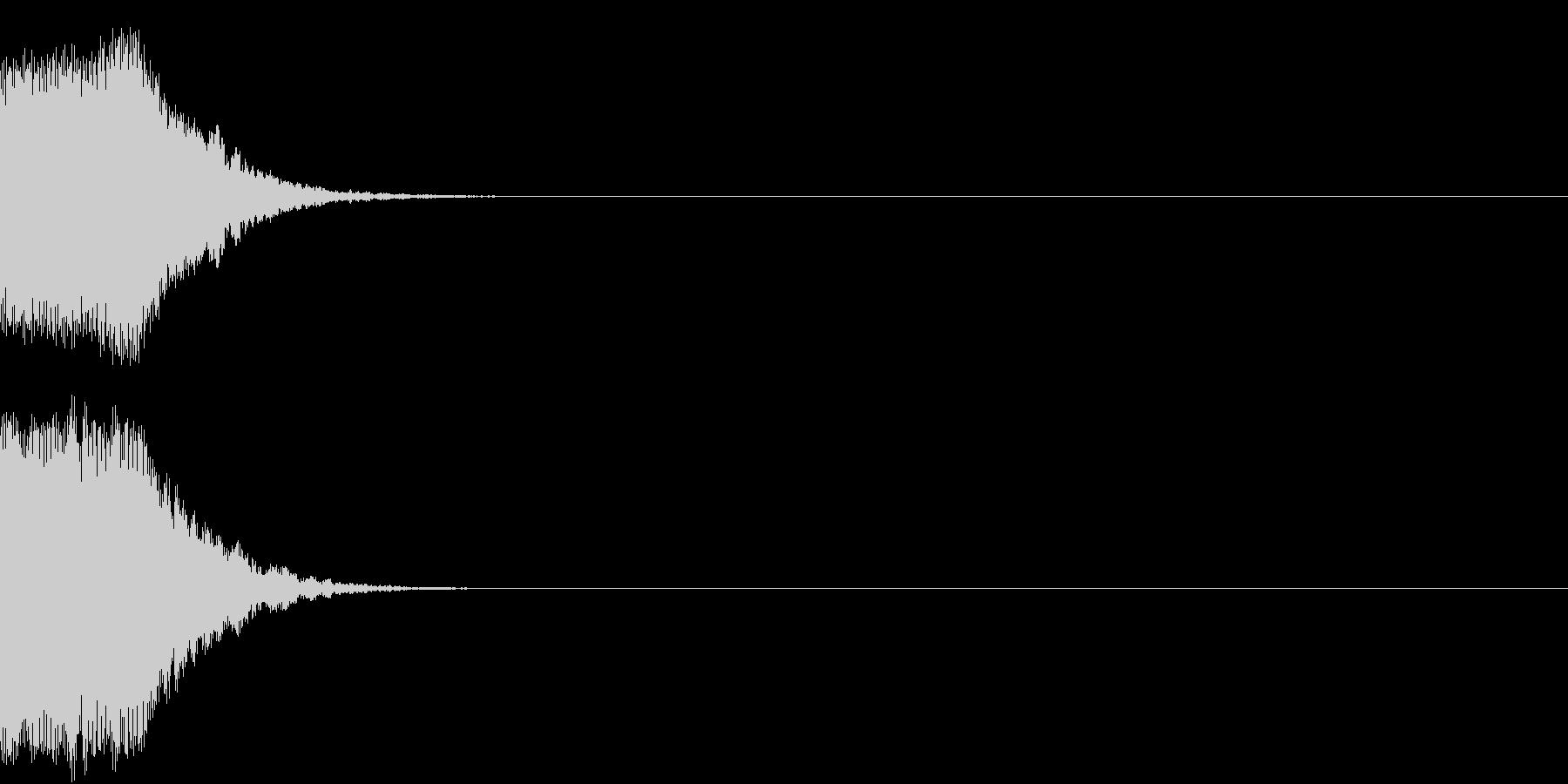 ズーン(意気消沈・落ち込む・コミカル)の未再生の波形