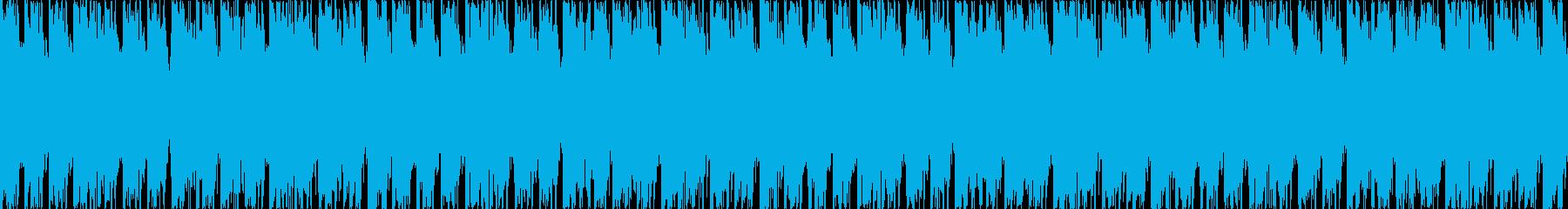 幻想的で重く激しいロック。生演奏・ループの再生済みの波形