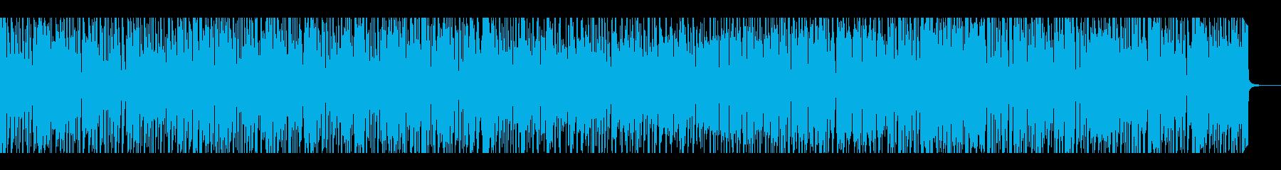 ノリの良いファンク、ナレーションバックの再生済みの波形