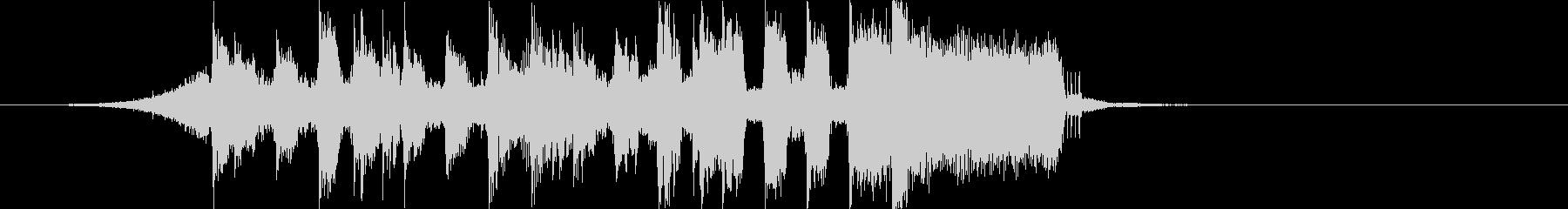 軽快ポップちょいロック4つ打ちジングルcの未再生の波形