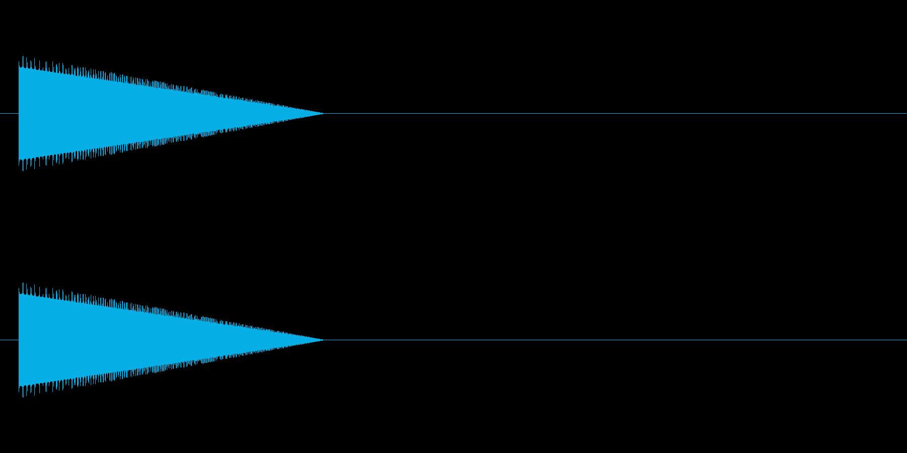 レトロゲーム風・ジャンプ#3の再生済みの波形