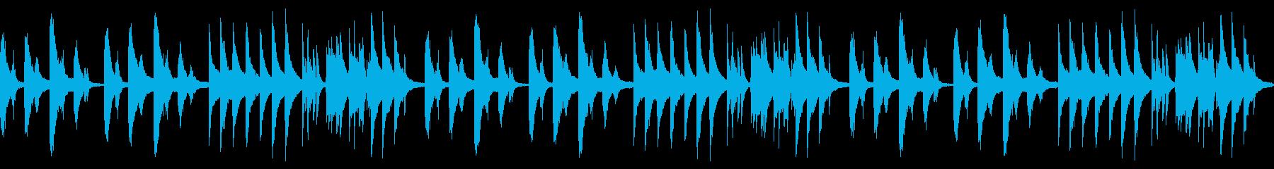 静かで温かみのある情熱的ピアノループの再生済みの波形