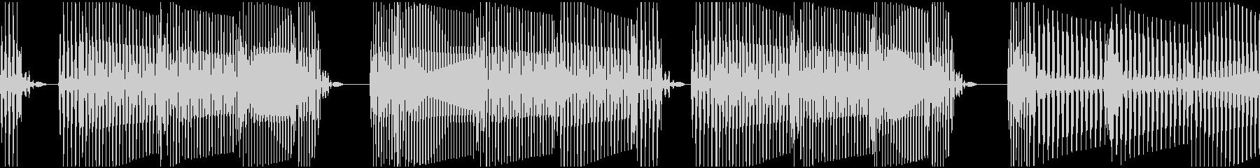 ベース ループ:シンキングタイム、ビートの未再生の波形