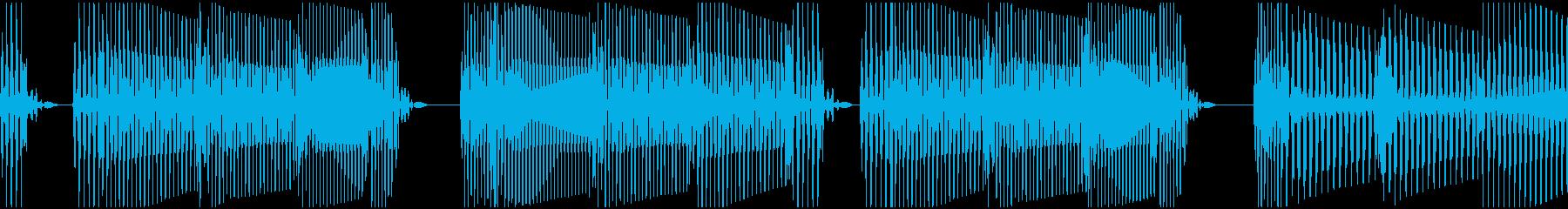 ベース ループ:シンキングタイム、ビートの再生済みの波形