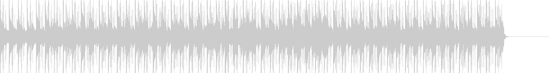シンプルで色気のある曲の未再生の波形