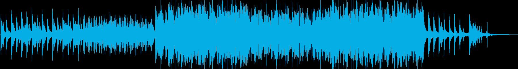 やさしく切ないピアノ曲の再生済みの波形