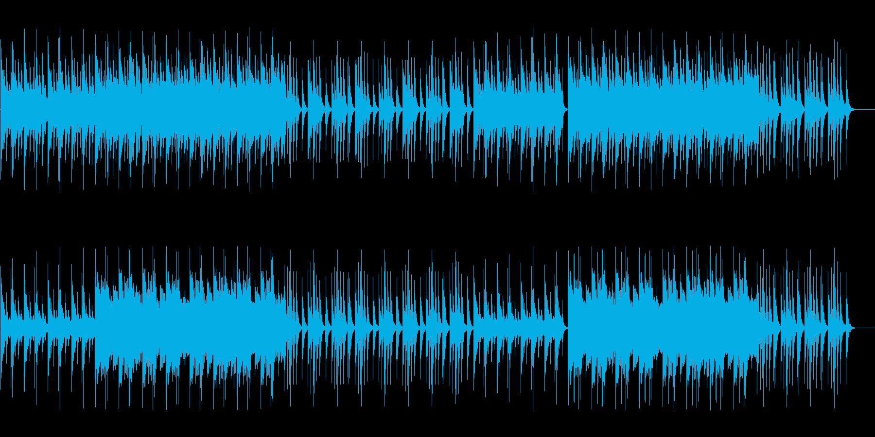和楽器を使用した少し不気味な和風ホラー曲の再生済みの波形