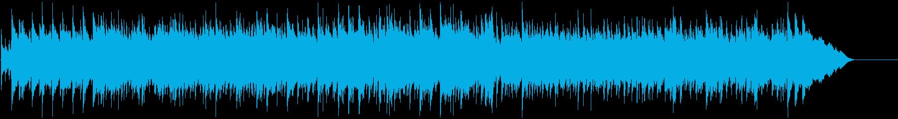 アニメOP風ロックBGMの再生済みの波形