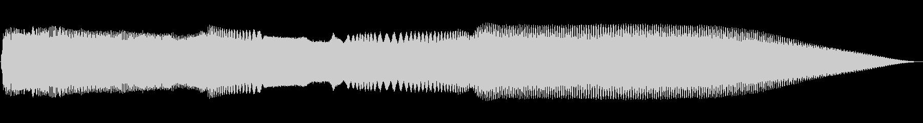 不協和音を話すトーンアラームの未再生の波形