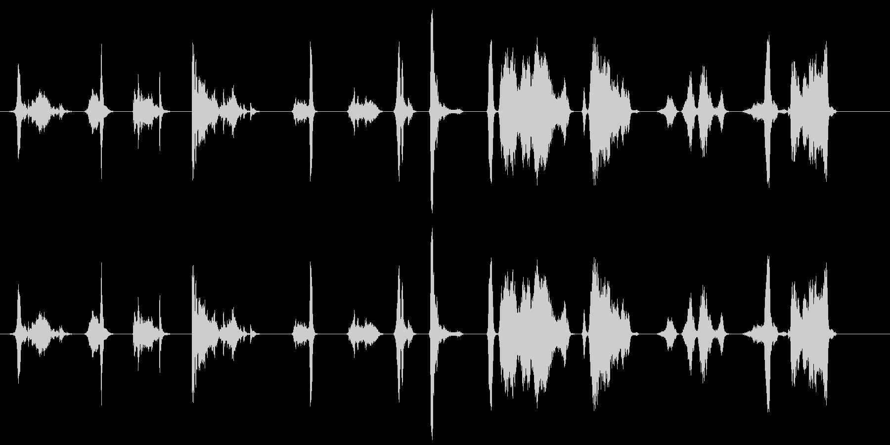 短い複数のスクラップ;高鳴り;セメ...の未再生の波形