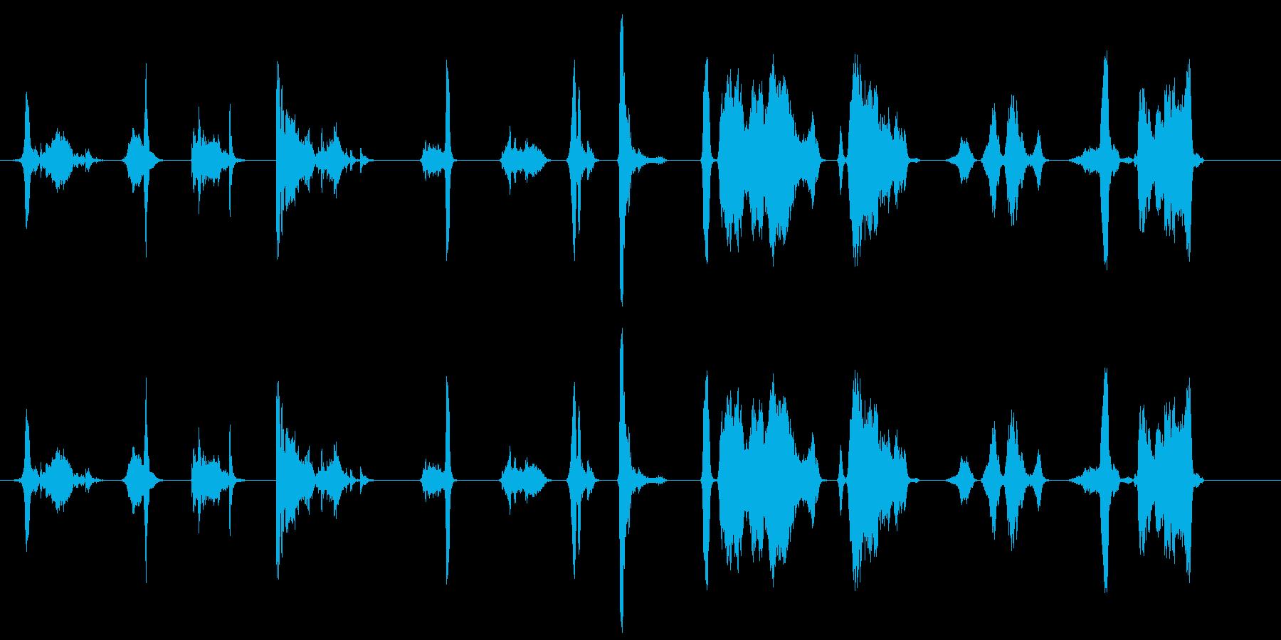 短い複数のスクラップ;高鳴り;セメ...の再生済みの波形