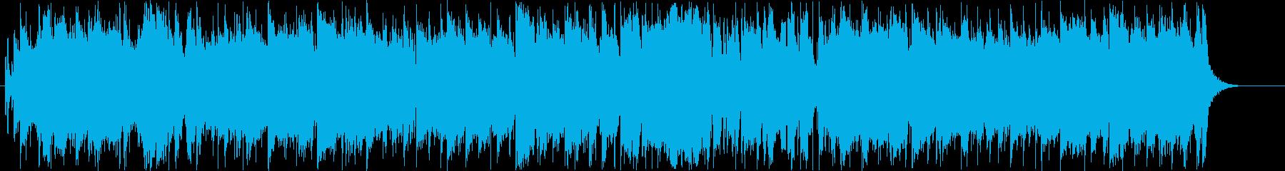 ジャズ風のゆったりとしたブラスセクションの再生済みの波形