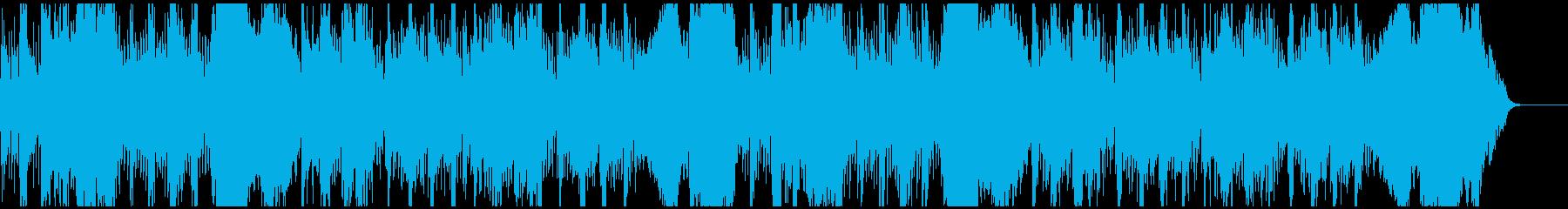 声無し版始まりを予感させるオーケストラの再生済みの波形