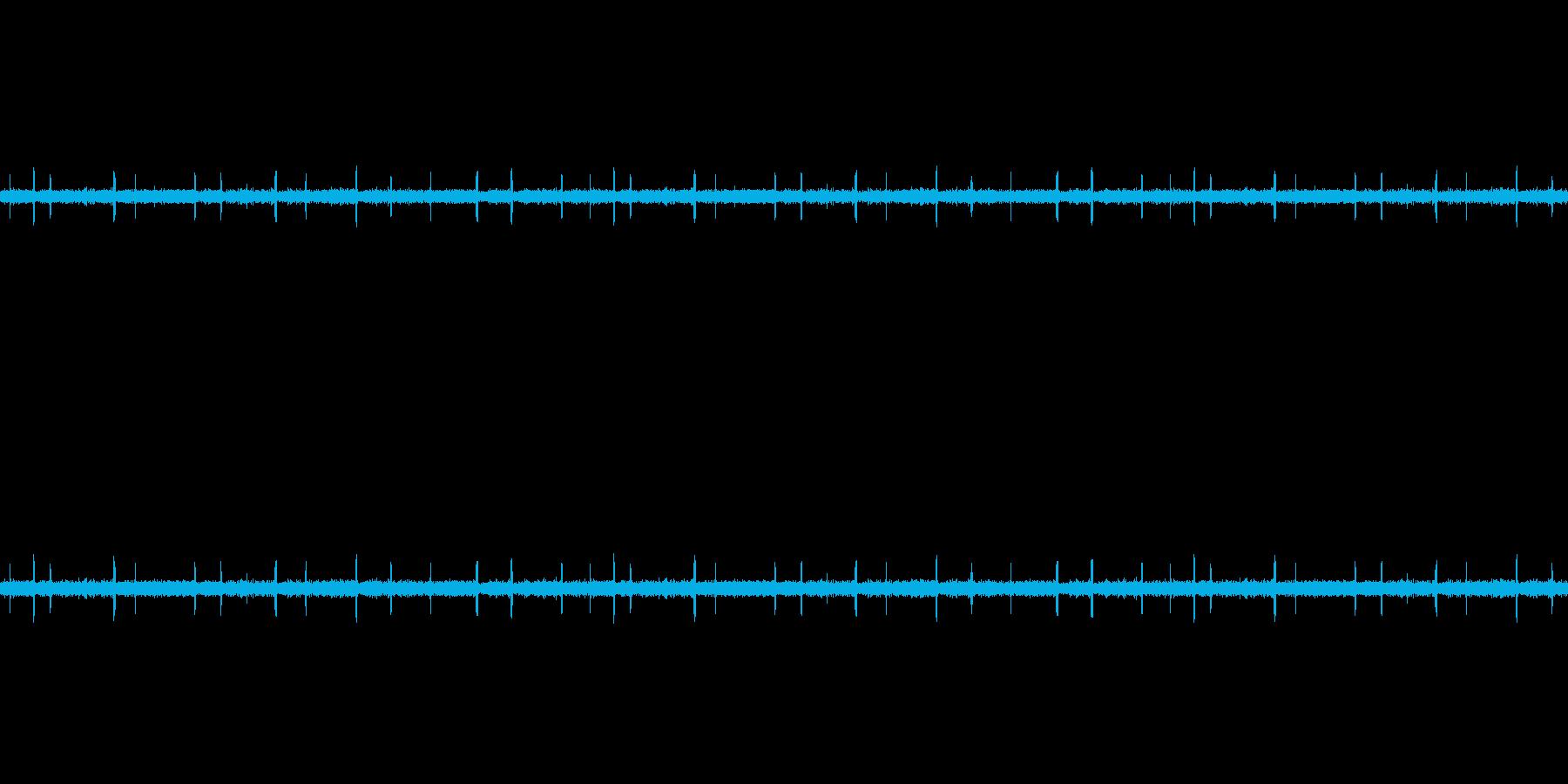 ザー(ラジオの動作音)の再生済みの波形