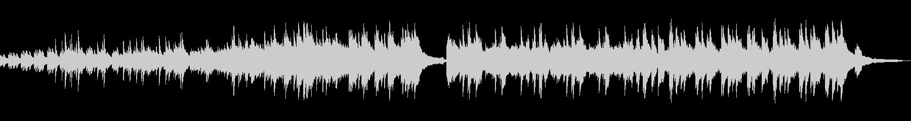 軽快なピアノ曲の未再生の波形