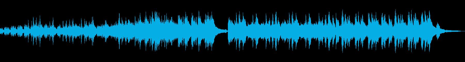 軽快なピアノ曲の再生済みの波形