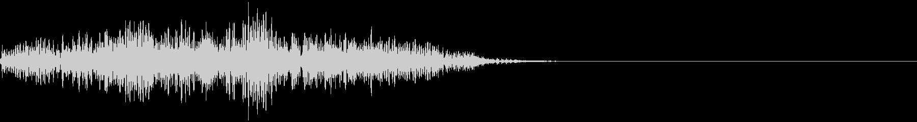 シンセベースによる場面転換音の未再生の波形