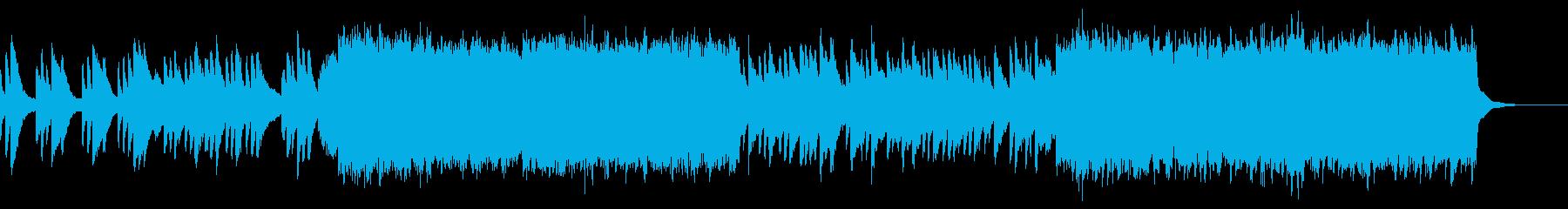 感動的で希望に満ちた管弦楽曲の再生済みの波形