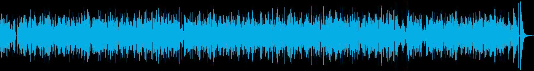 猫のほのぼの可愛いモフモフハッピーソングの再生済みの波形
