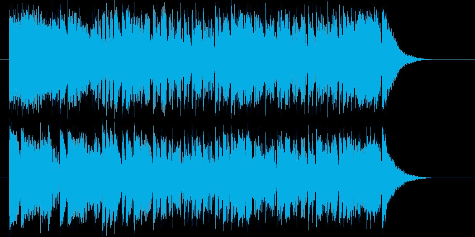 躍動感がありトランペットが印象的なBGMの再生済みの波形