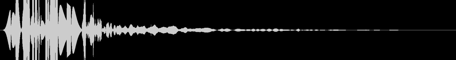 ヘビーボディパンチ;野球のグローブ...の未再生の波形