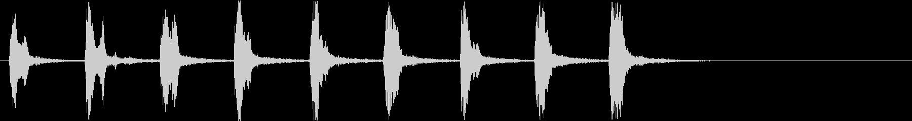 キィッキィッ!(バイオリン怖い刻み)遅めの未再生の波形