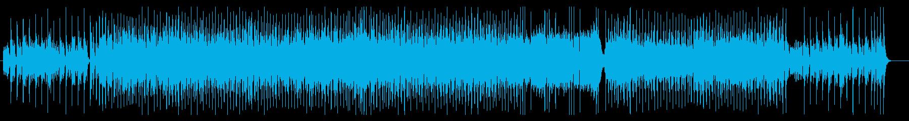 リズミカルな心躍るポップスの再生済みの波形