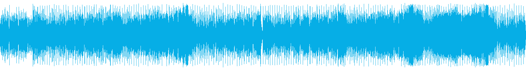 Stylish house-style chip tune's reproduced waveform