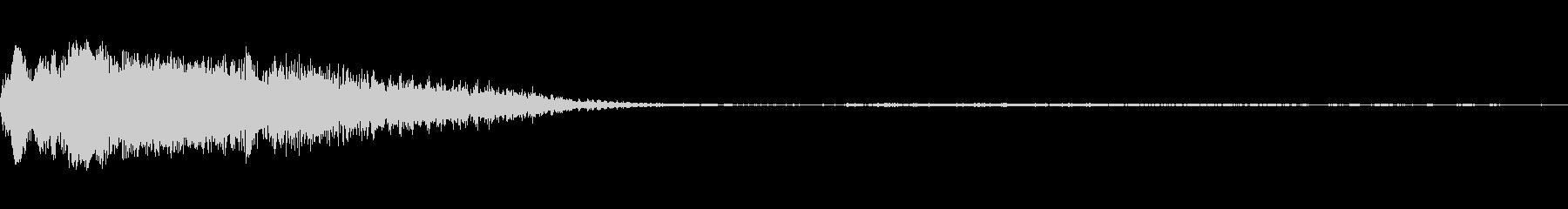 落雷のヒントの未再生の波形