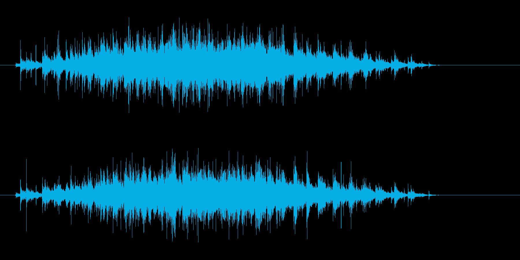 拍手音の再生済みの波形